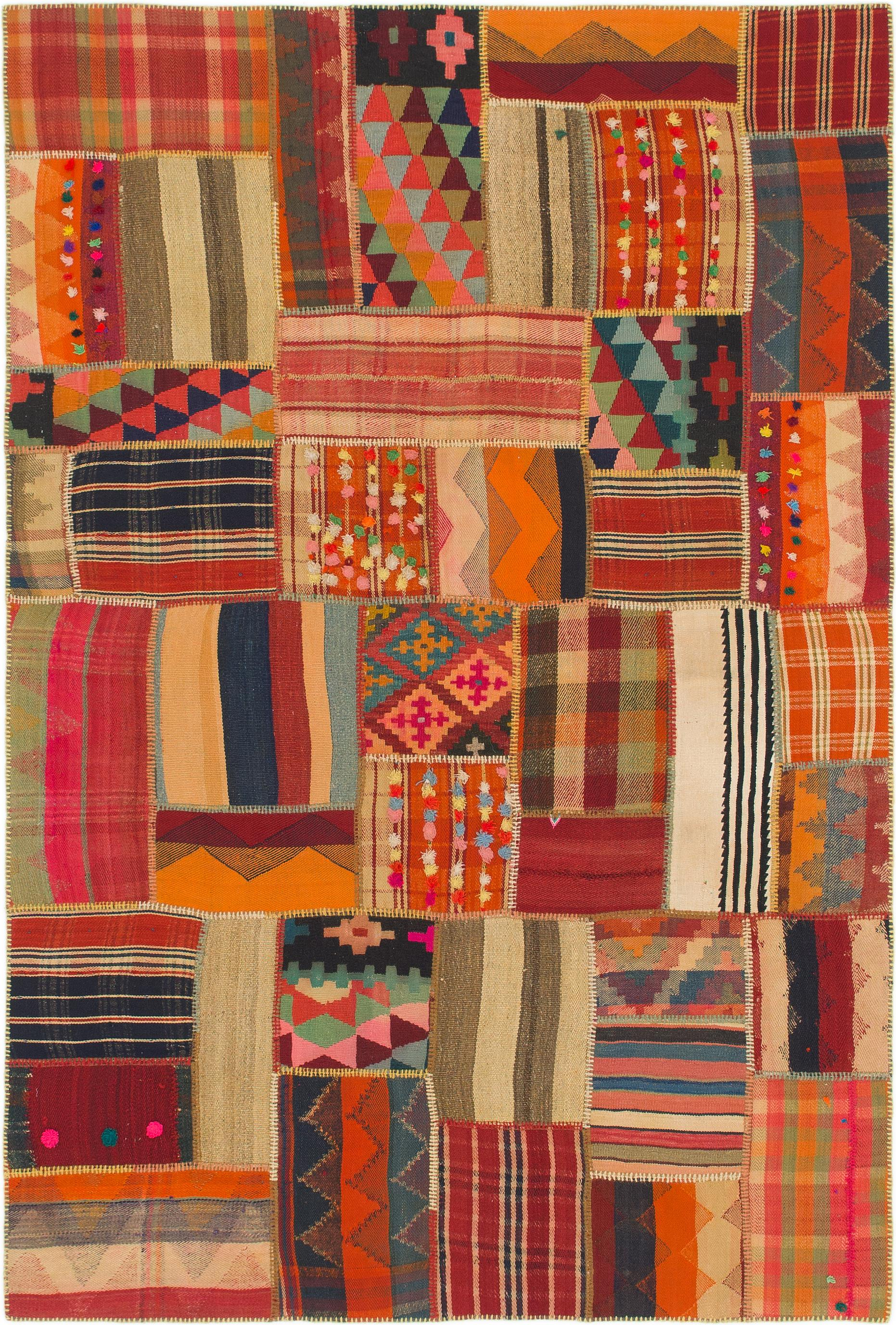 Multicolor 5 7 X 8 3 Kilim Patchwork Persian Rug Irugs Uk