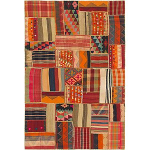 HandKnotted 5' 7 x 8' 3 Kilim Patchwork Persian...
