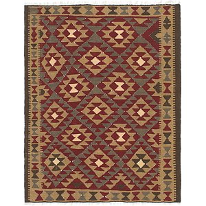 Link to 5' x 6' Kilim Maymana Square Rug item page