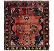 Link to 4' 7 x 5' 2 Hamedan Persian Square Rug