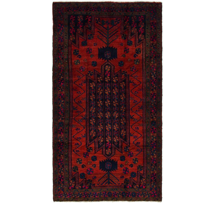 4' 9 x 9' Shiraz Persian Runner Rug