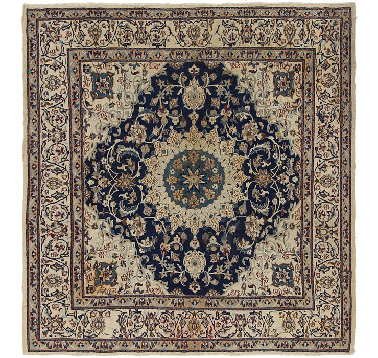 6' 3 x 6' 8 Nain Persian Square Rug