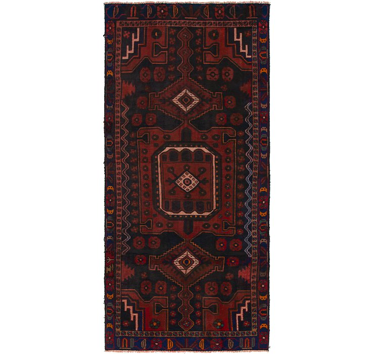 4' x 9' 3 Shiraz Persian Runner Rug