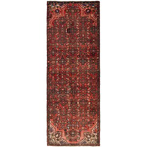 HandKnotted 3' 4 x 9' 9 Hossainabad Persian Run...