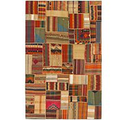 Link to 6' 8 x 10' 3 Kilim Patchwork Rug