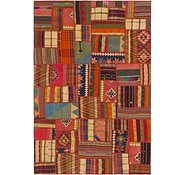 Link to 6' 9 x 10' 2 Kilim Patchwork Rug