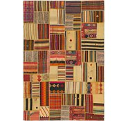 Link to 6' 9 x 9' 10 Kilim Patchwork Rug