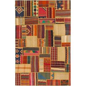 Unique Loom 6' 5 x 9' 10 Kilim Patchwork Rug