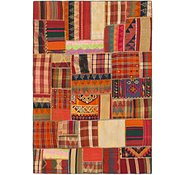 Link to 5' 10 x 8' 5 Kilim Patchwork Rug