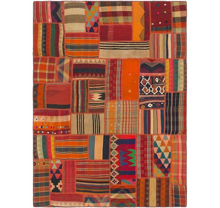 6' x 8' Kilim Patchwork Rug