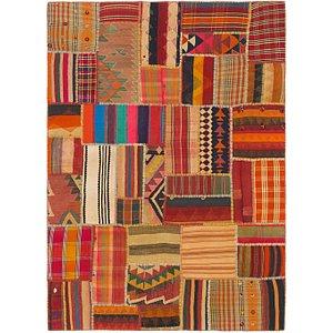 Unique Loom 5' 8 x 8' Kilim Patchwork Persian...