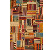 Link to 6' 9 x 10' 4 Kilim Patchwork Rug