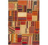 Link to 5' 9 x 8' 4 Kilim Patchwork Rug