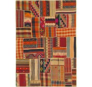 Link to 5' 7 x 8' Kilim Patchwork Rug