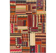 Link to 5' 8 x 8' 4 Kilim Patchwork Rug