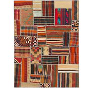 Link to 5' x 6' 8 Kilim Patchwork Rug