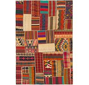 Link to 5' 7 x 8' 2 Kilim Patchwork Rug
