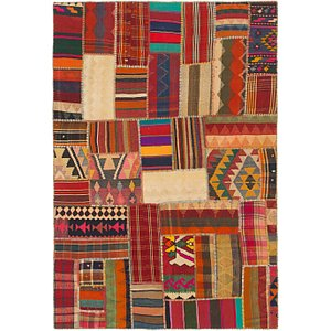 Link to 5' 7 x 8' 2 Kilim Patchwork Rug item page