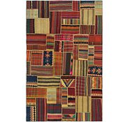 Link to 6' 7 x 10' 2 Kilim Patchwork Rug