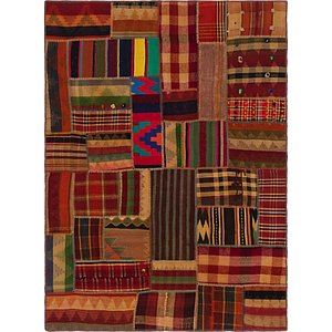 Unique Loom 5' x 7' Kilim Patchwork Rug