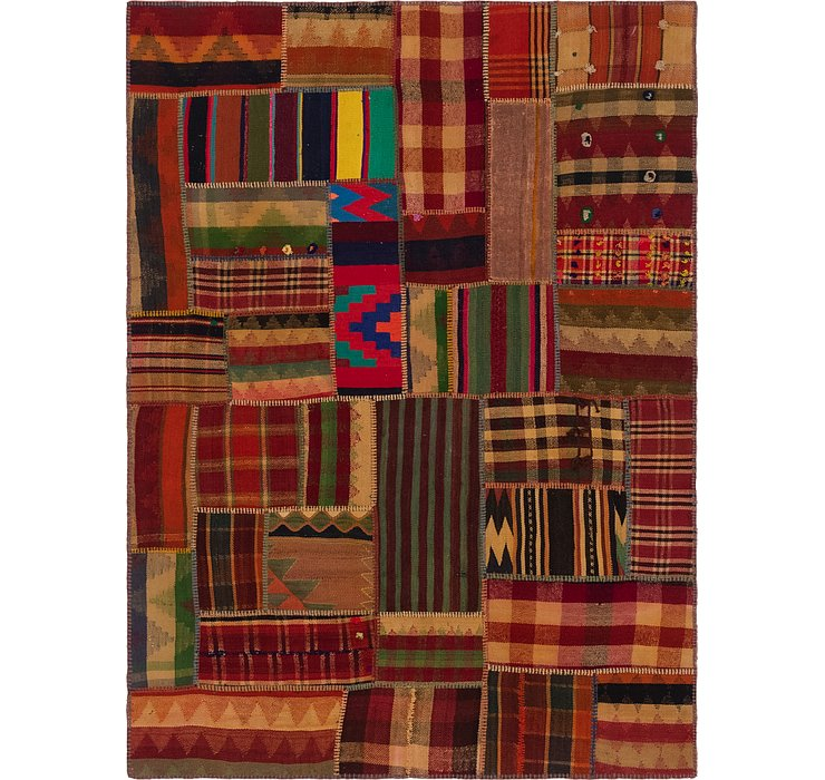 5' x 7' Kilim Patchwork Rug