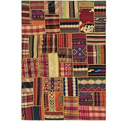 Link to 5' 8 x 8' Kilim Patchwork Rug
