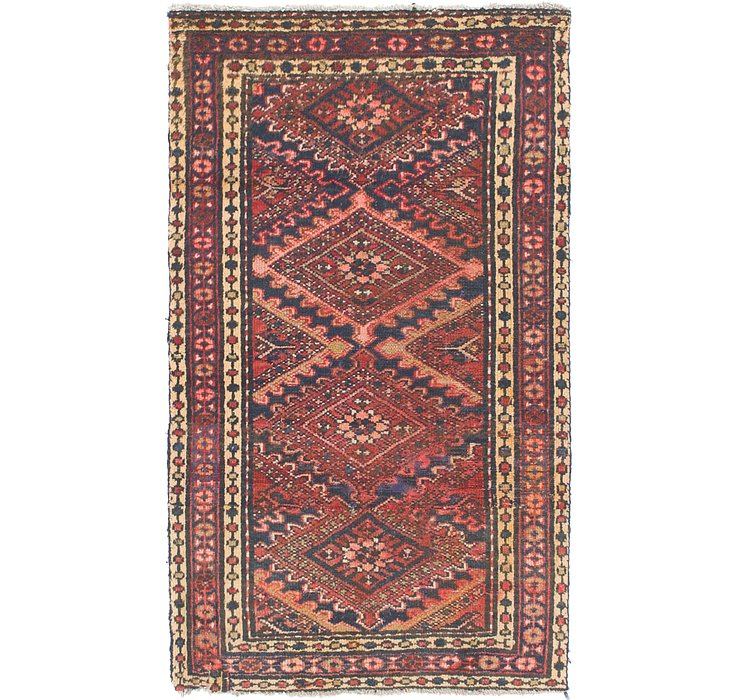 3' x 9' 4 Shiraz Persian Runner Rug