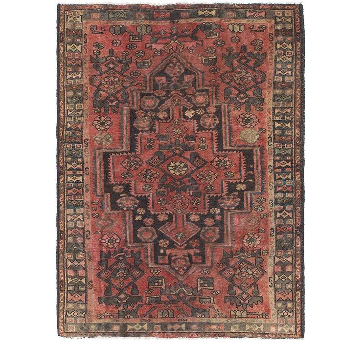 4' x 5' 8 Hamedan Persian Rug