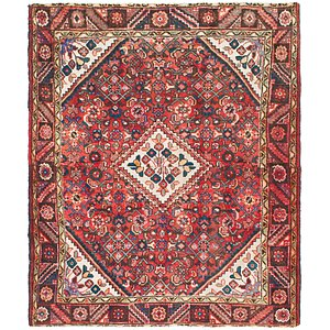 Link to 4' 10 x 6' Hossainabad Persian Rug item page