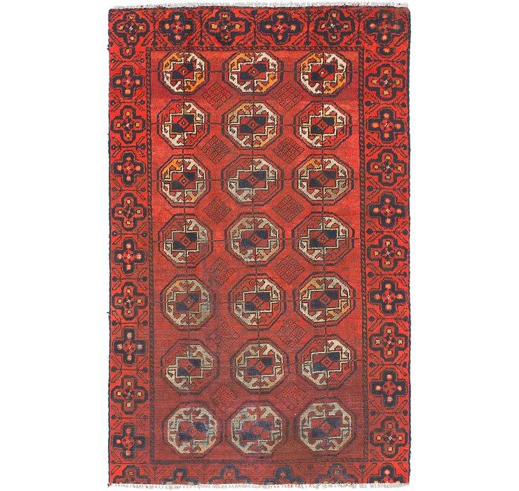 3' 10 x 6' 5 Torkaman Persian Rug