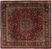 Link to 9' 3 x 9' 8 Mashad Persian Square Rug