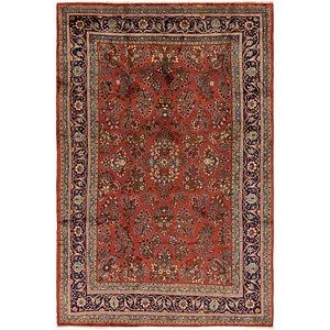 7' 7 x 11' 6 Sarough Persian Rug