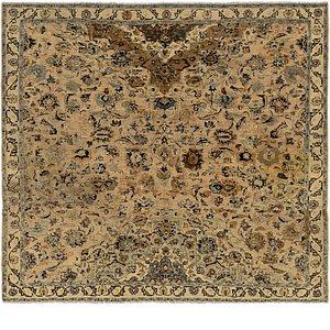 6' 5 x 7' Kashan Persian Square Rug