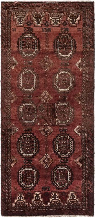 Red 2 2 X 5 3 Balouch Persian Runner Rug Area Rugs Esalerugs