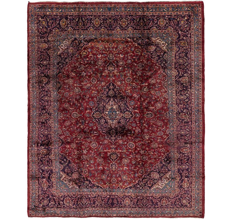 HandKnotted 10' x 12' 6 Mashad Persian Rug