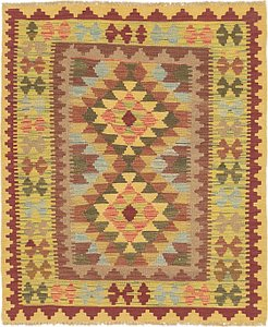 Link to 3' 4 x 4' Kilim Maymana Square Rug item page