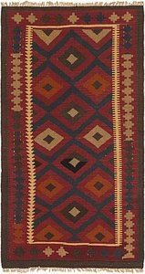 Link to 3' 4 x 6' 4 Kilim Maymana Runner Rug item page
