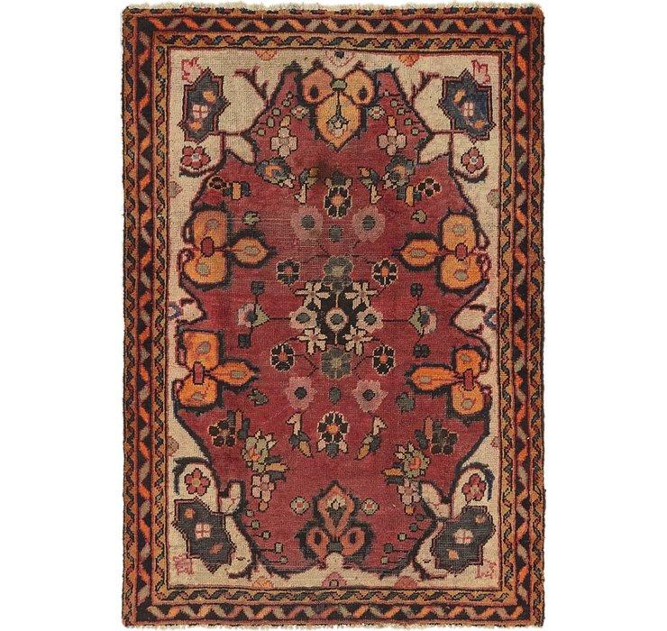 4' 2 x 6' 2 Hamedan Persian Rug