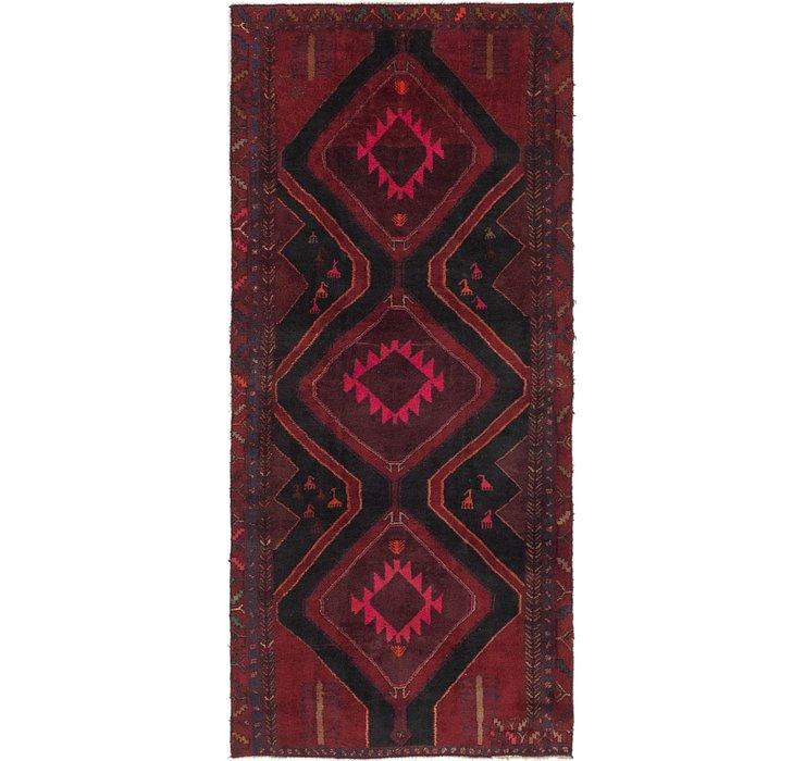 4' 3 x 9' 7 Sirjan Persian Runner Rug