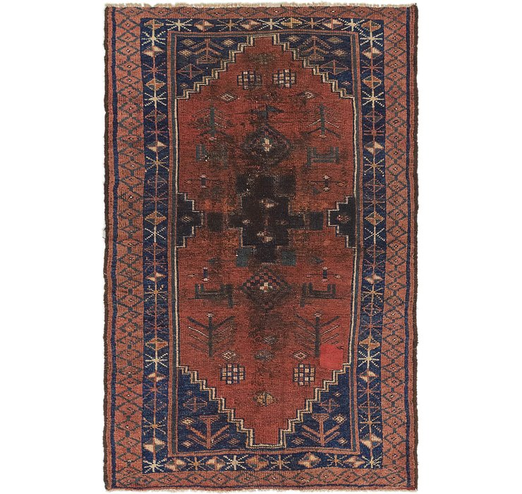 HandKnotted 4' 4 x 6' 10 Shiraz Persian Rug