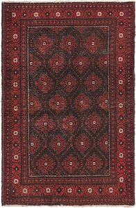 HandKnotted 4' x 6' 2 Balouch Persian Rug