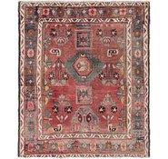 Link to 4' 10 x 5' 7 Hamedan Persian Square Rug