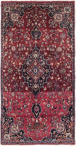 Link to 4' x 7' 10 Mashad Persian Runner Rug item page