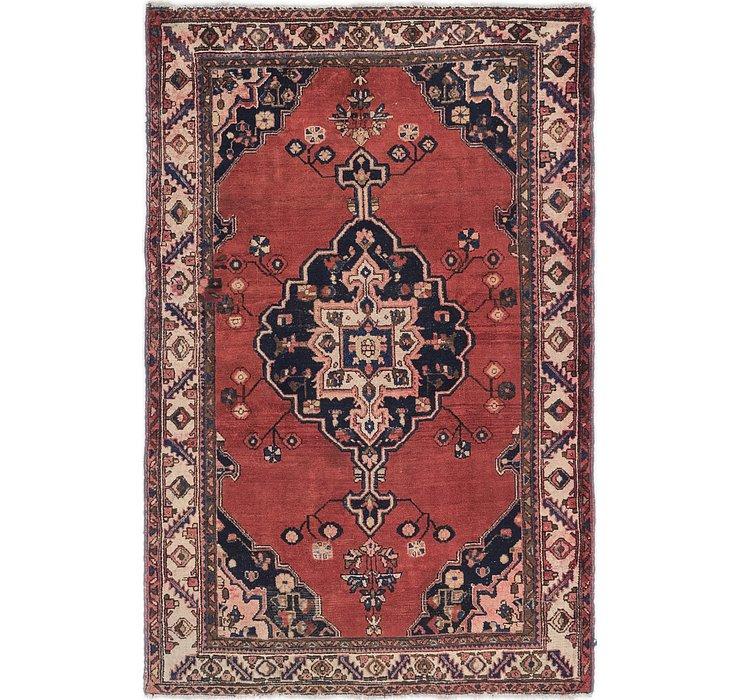 4' 5 x 6' 8 Hamedan Persian Rug