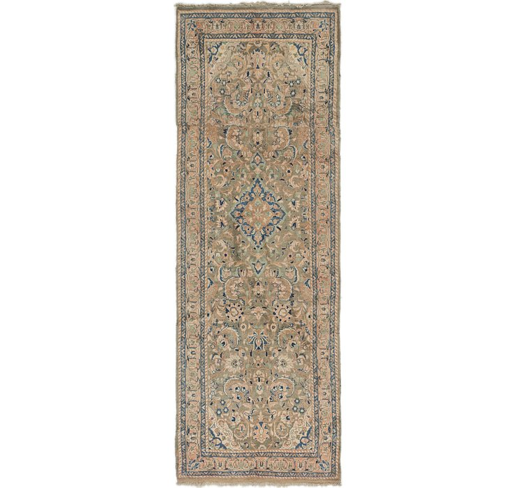 3' 4 x 9' 9 Mahal Persian Runner Rug