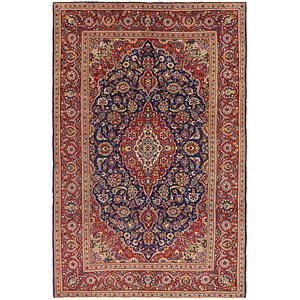 Link to 6' 6 x 9' 10 Kashan Persian Rug item page