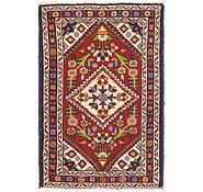 Link to 2' 4 x 3' 7 Hossainabad Persian Rug
