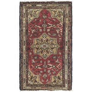 Link to 60cm x 112cm Hossainabad Persian Rug item page