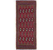 Link to 1' 5 x 3' 6 Torkaman Persian Runner Rug