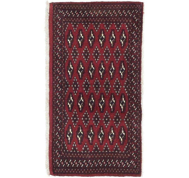 HandKnotted 1' 10 x 3' 6 Torkaman Persian Rug